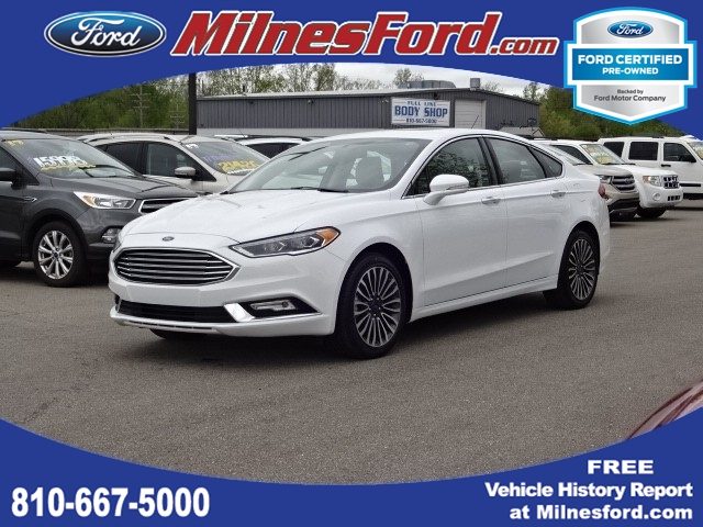 Ford Certified Pre Owned >> Certified Pre Owned 2018 Ford Fusion Titanium Awd